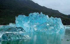 Beautiful Iceberg washed ashore of coast of Alaska