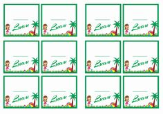FREE printable luau themed Name Tags