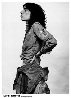 A great poster of Patti Smith in Amsterdam in Everyone should be a fan of this Poet, Performer, and Paragon of Punk Rock. Check out the rest of our excellent selection of Patti Smith posters! Patti Smith, Beat Generation, Moda Vintage, Vintage Music, Vintage Room, Vintage Kitchen, Album Photo Vintage, White Photography, Portrait Photography