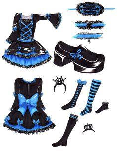 gothic lolitta drawing | Blue Gothic Lolita dress by ~hinode on deviantART