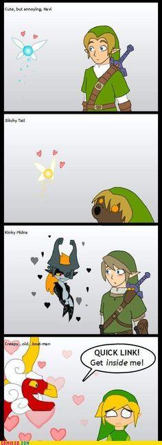 The progression of Link's sidekicks.