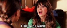 When someone gives you the side eye: | The 27 Most Relatable Jessica Day Quotes