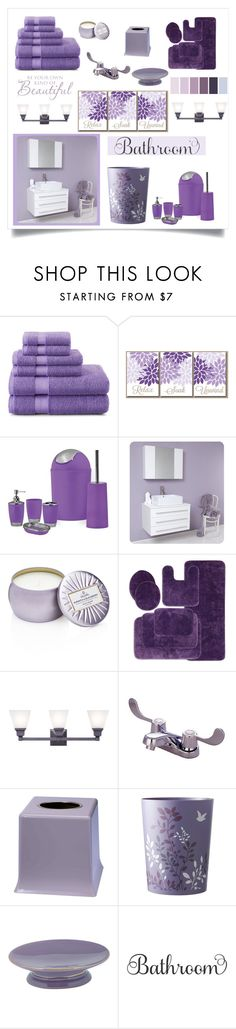 """""""Lavender Bathroom"""" by southindianmakeup1990 ❤ liked on Polyvore featuring interior, interiors, interior design, home, home decor, interior decorating, Fresca, Voluspa, Livex and Kingston Brass"""