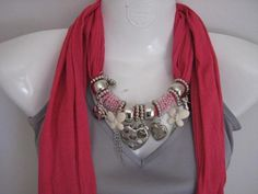 Pictures of  Pendant scarves with beads
