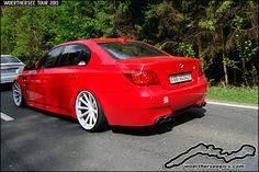 Red BMW E60 M5