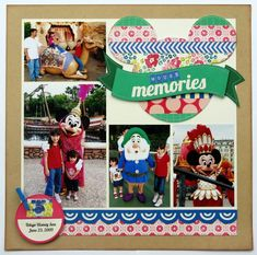 A Crate Paper Maggie Holmes Disney Themed Layout - Scrapbook.com