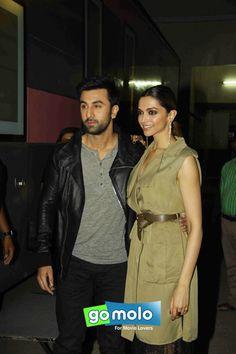 Ranbir Kapoor & Deepika Padukone at the Promotion of Hindi movie 'Tamasha' at Mehboob Studio in Mumbai