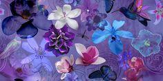 Jardim Psicodélico/Psychedelic Garden #estampa #print #pattern #color #colorful #beautiful #cores #flower #flor #jardim #garden #birds #dark #noite #arabesco