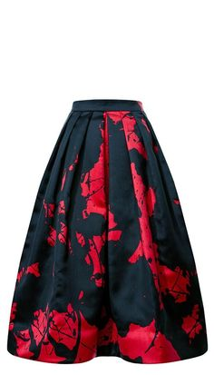 Be merry and bright in this Paint Splatter Full Skirt by Tibi