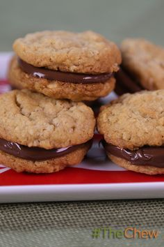 Peanut Butter Cookies with Chocolate-Hazelnut Spread by Micahel Symon! Your tastebuds will be singing after a bite of these wickedly delicious cookies. Whip up a batch today!