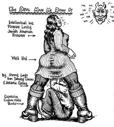 THE DEVIL made him DRAW this-R.CRUMB-under-an INTELLECTUAL-PLEASURE LOVING-J.A.P.