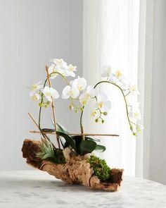 vert SODIAL Un Bouquet Feuille de papillon orchidee de simulation artificielle Arrangement de fleurs de simulation