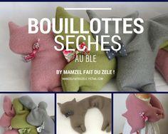 La boutique Mamzel Fait Du Zèle ! - Bouillottes sèches chat ou lapin - divers coloris