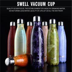 Nueva Calidad Superior Oleaje Coque Creativo botella de Aislamiento Taza Con de Alto Grad botella Estrella Botella de Vacío de Acero Inoxidable Taza de Café taza de agua