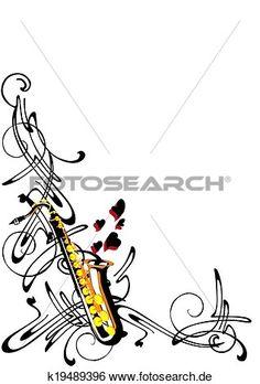 abstraktion, auf, jazz Große Clipart Grafik anschauen