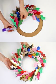 10 DIY Christmas Craft Ideas For Christmas Lovers Christmas diy holiday craft ideas - DIY Craft Ideas Christmas Card Crafts, Homemade Christmas, Holiday Crafts, Christmas Ideas, Holiday Ideas, Christmas Wreaths, Christmas Holiday, Upcycled Crafts, Diy And Crafts