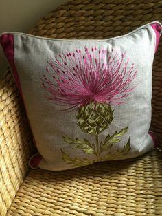 Highland Thistle cushion