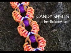 CANDY SHELLS Hook Only bracelet tutorial - YouTube