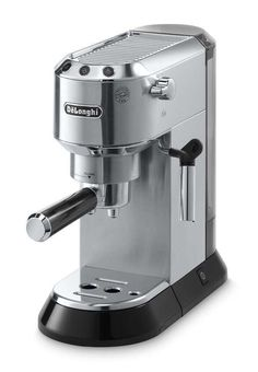 DeLonghi Stainless Steel Automatic Espresso Machine at Lowe's. The DeLonghi Dedica pump espresso machine offers a traditional espresso and cappuccino experience in a sleek ultra compact design crafted with skill and Best Home Espresso Machine, Machine A Cafe Expresso, Espresso Machine Reviews, Automatic Espresso Machine, Espresso Coffee Machine, Coffee Maker, Coffee Brewer, Coffee Coffee, Coffee Cups