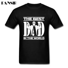 >> Click to Buy << The Best Dad In The World Men T-shirt Plain Shirt For Men White Short Sleeve Custom XS-3XL Tops Tee For Team #Affiliate