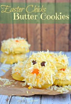 Easter Chicks Butter Cookies