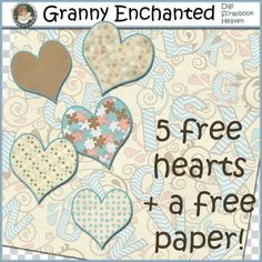 GRANNY ENCHANTED'S BLOG: Free Alphabet Paper and Hearts From Baby Kit
