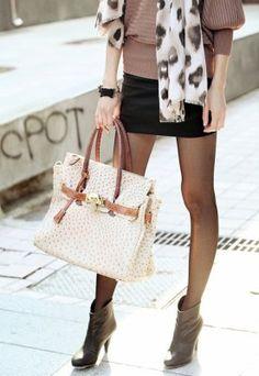 scarf. bag. skirt.