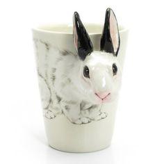 Lindo copinho de cerâmica. Ideal para usar no sia da Páscoa! #Páscoa2014