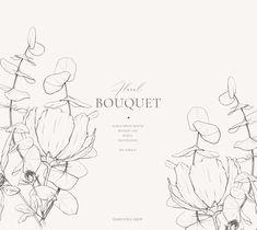 Floral Illustrations, Botanical Illustration, Illustration Art, Line Art Flowers, Flower Art, Flower Outline, Line Art Projects, Watercolor Moon, Line Art Vector