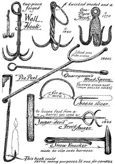 Miscellaneous implements. (Courtesy of Museum of Early American Tools, by Eric Sloane)