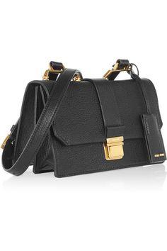Miu Miu - Madras small textured-leather shoulder bag 9aa31270baf31