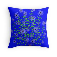 Violet Dahlia Design by Kat Worth Throw Pillow