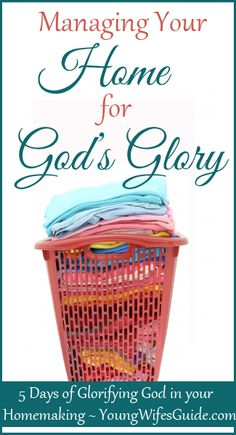 As a homemaker and follower of Christ, we are called to look after and manage our household. The house is our domain and we are put in charge of creating a God glorifying atmosphere. Here are a few practical tips to help you GLORIFY GOD IN YOUR HOMEMAKING!