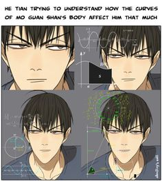 Resultado de imagen para he tian x mo guan shan hard Manhwa Manga, Manga Anime, Anime Art, Handsome Anime Guys, Boy Pictures, 19 Days, Cool Sketches, Shounen Ai, Fujoshi
