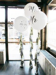 Reuze ballonnen bruiloft, tassels, Mr en Mrs