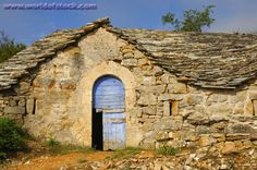 Image detail for -Image of Blue Wooden Door To An Abandoned Semitroglodyte Wine Cellar ...