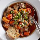 Try the Braised Beef with Autumn Vegetables Recipe on williams-sonoma.com/