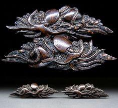RARE KOKINKO Octopus MENUKI 17-18thC Japanese Edo Antique for Koshirae f264