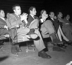 "Marlon Brando in Italy  Attending the preview of ""On the waterfront"" on the stage of the Cinema Fiamma. Rome, 1954. #Brando"