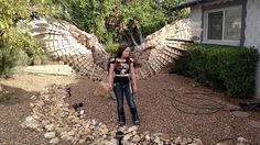 Alexis Noriega created a beautiful pair of human-sized pneumatic articulating feather wings for Halloween. She will be posting a tutorial soon for people interested in building their own pair. Than…