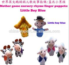 "Mother Goose Nursery Rhyme Finger Puppets ""little Boy Blue ..."