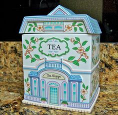 Lenox Village Tea Canister by cynthiasattic on Etsy, $55.00