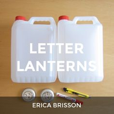 Check out Letter Lanterns by Erica Brisson on @HowDo_
