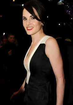 Michelle Dockery Wearing J Mendel at 2014 Screen Actors Guild Awards in Los Angeles