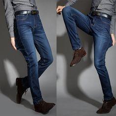 Men's Drizzte Stretch Thick Warm Fleece Denim Jean