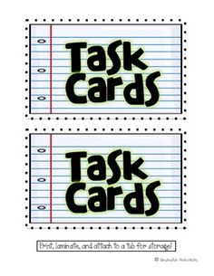 task card