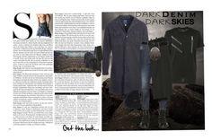 """Dark Skies"" by bella0678 on Polyvore featuring Bleu de Paname, Dsquared2, ibex, men's fashion, menswear, darkdenim and menswearessential"