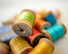I love old spools of thread--I have some that were my mothers probably from the thrift stores!