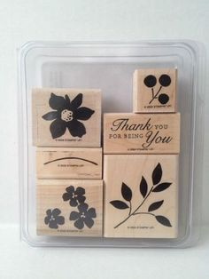 Stampin' Up Best Blossoms Set of 6  Flowers Blooms Thank You  for being you