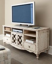 Love The Look Of Distressed Furniture | For My Beach House | Pinterest |  Consoles, Media Cabinet And House